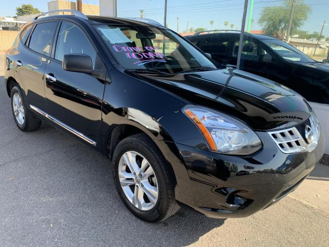 2015 Black /Black, cloth Nissan Rogue Select S 2WD (JN8AS5MT0FW) with an 2.5L L4 DOHC 16V engine, Continuously Variabl transmission, located at 2231 W Main St., Mesa, AZ, 85201, (480) 707-9008, 33.415115, -111.848190 - Photo #0